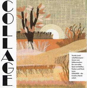 Textile Landscape Collage Kit with Frame by Smyrnafix 5805 Burgund