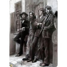 BEATLES LEANING..  8x12 metal sign for fans of John Lennon Paul McCartney