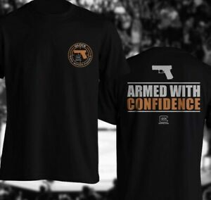 Glock Perfection Hand Gun Armed with Confidence DTG Print CottonT-Shirt