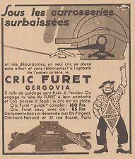 Z8372 Cric Furet GERGOVIA - Pubblicità d'epoca - 1933 Old advertising