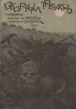 Original 1901 Delirius Tremens Skull Moon Horror Halloween big Original print