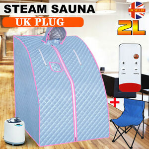 Portable Steam Sauna Spa Set Steam Pot Tent Slimming Therapy Home indoor + Chair