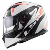LS2 Stream EVO FF320 Commander White / Black / Red Full Face Motorbike Helmet