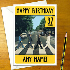 THE BEATLES Personalised Birthday Card - lennon starr harrison mc personalized