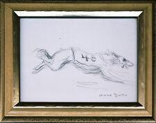Otto Dill 1884-1957: Windhund originale Bleistiftzeichnung signiert Rennhund