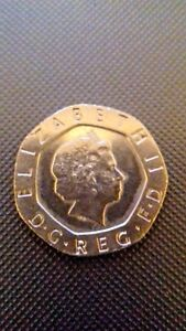 2008 Twenty Pence UNDATED Error Mule Coin which is Extremely Rare.
