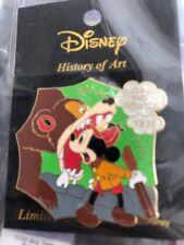 Disney Japan History of Art The Pointer Hunter Mickey Mouse Rifle Gun Bear Pin
