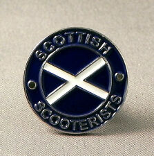SCOTTISH SCOOTERISTS - PIN BADGE SCOTLAND SCOOTER SCOOTERIST MODS VESPA  (AB-35)