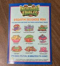 VTG 90s Toymax Incredible Edibles Toy Digusting Delicacies Menu Replacement Card