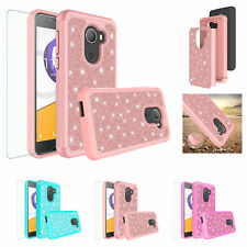 Tmobile REVVL Case, T-mobile Revvl, Glitter Bling HD Screen Protector Cover Case