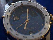 Reloj de Cuarzo Ultra Raro Para Hombre Retro Suizo KRIEGER Lunar cronómetro Fase Lunar