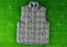 Prana Portal Reversible Down Vest Charcoal Grey Plaid Mens Size Large Outdoors