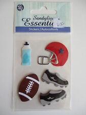 SANDYLION ESSENTIALS 3D STICKERS - AMERICAN FOOTBALL ball helmet