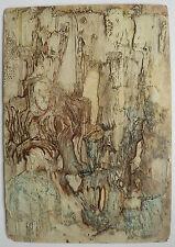 Belle Petite Huile Ancienne Composition abstraite Abstraction c.1950 #2 Tableau