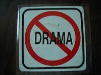 METAL MINI   NO DRAMA  SCOTTY SAYS  TRAFFIC SIGNS