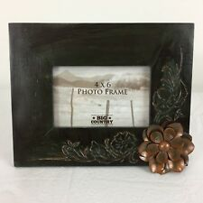 "Big Sky Carvers Prairie Rose Flower Picture Frame 4"" x 6""  Rustic Decor"