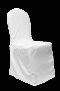 179 white polyester chair covers, 89 hot pink (fuschia) & 88 royal blue sashes