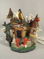 Spooky Hollow Halloween Haunted Hospital Porcelain House 2002 Light Cord Ghosts