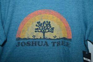 New! Lucky Brand JOSHUA TREE graphic T-Shirt Mens Medium blue poly blend