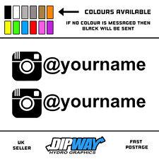 2x Instagram - Funny Novelty Car / Bike / Van / Window / Vinyl Sticker Decal