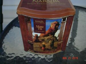 vintage retro musical tin narnia the lion the witch and the wardrobe disney