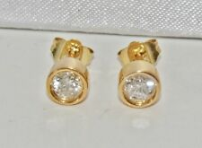 Beautiful 9ct Yellow Gold 0.50ct Diamond Ladies Solitaire Stud Earrings