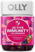 Olly ACTIVE IMMUNITY BERRY BRAVE - 45 Gummies EXP 11/2021 NEW!