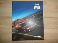 VOLVO  V40 original1999.2000 English Mkt prestige sales brochure. nr Mint