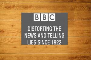 BBC Telling Lies Sticker Packs (10-100) - Anti Brainwashing Mass Media Fake News