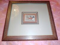 US Department of Interior Scott #RW48 $7.50 Ruddy Ducks 1981 Framed in mint cond