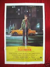 TAXI DRIVER * 1976 ORIGINAL MOVIE POSTER ONE SHEET ROBERT DENIRO MARTIN SCORSESE