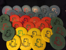 "YELLOW Perry Bible Fellowship PBF ""Crazy"" Gopher Flying Disc Golf Putter"