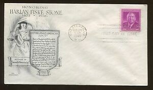 Aristocrats Day Lowry Harlan Fiske Stone Law 1948 FDC Chesterfield US Stamp #965