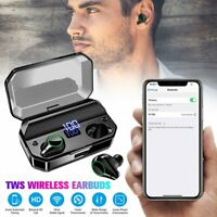 TWS Wireless Bluetooth 5.0 Headset In-Ear Earbuds HiFi Stereo Headphone Mic IPX7