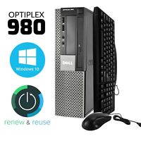 Dell OptiPlex Computer Desktop PC 4GB RAM 250GB HD Windows 10 Intel Core 3.20GHz