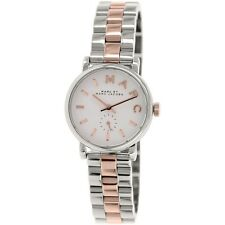 NEW MARC JACOBS TWO TONE BAKER MINI WHITE DIAL LADIES WATCH MBM3331