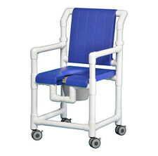 ROLLING OPEN-FRONT DELUXE SHOWER CHAIR COMMODE SCC700 B