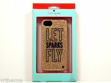 "NEW!! Kate Spade ""Let Sparks Fly"" Glitter Silicone iPhone 5 / 5S Case WIRU0061"