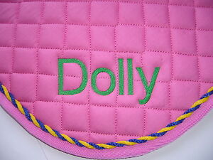 Personalised Saddle Cloths with Piping & Embroidery of your Choice on both side