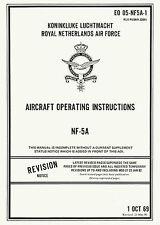 NORTHROP NF-5A AIRCRAFT OPERATING INSTRUCTIONS  EO 05-NF5A-1 KLu