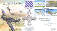 BB9d WWII WW2 BoB Battle of Britain Spitfire pilot PATTEN hand signed FDC