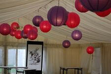 9x 30cm red purple paper lanterns bulbs wedding birthday party venue decoration