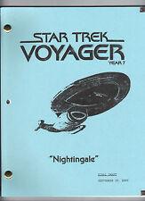 "STAR TREK: Voyager Year 7 show script ""Nightingale"""