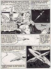 LE MONDE QUI GRANDISSAIT  PLANCHE DE MONTAGE AVENTURES FICTION 1958  PAGE 2