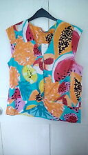 BNWT multi coloured cotton summer top, cotton, sleeveless, size 14, from Tu