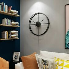 Black Hollow Metal Wall Clock 40 Cm New Unique Novel Modern Design