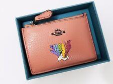 Coach x Peanuts 16108B Boxed Snoopy Mini Skinny ID Case Wallet Melon NWT