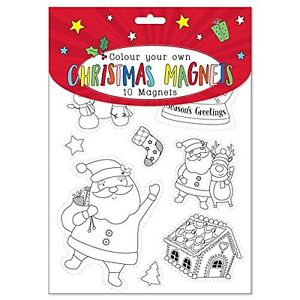 Colour Your Own Christmas Fridge Magnets - Craft - Stocking Filler