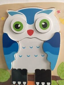 Discovery Toys Night Owl Wood Double-Sided Puzzle Toddlers