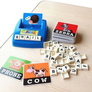 Toys For Children English Spelling Alphabet Letter Game Cards English Word Puzzl